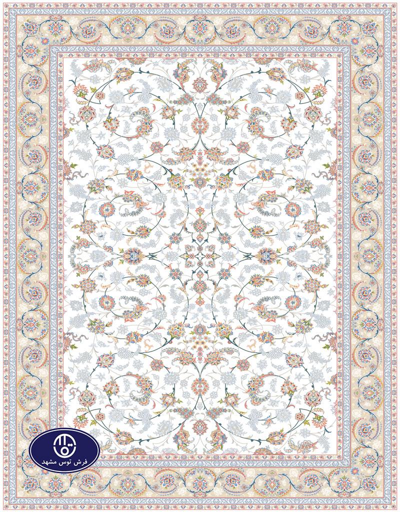 فرش گل برجسته،توس مشهد،کرم 8033