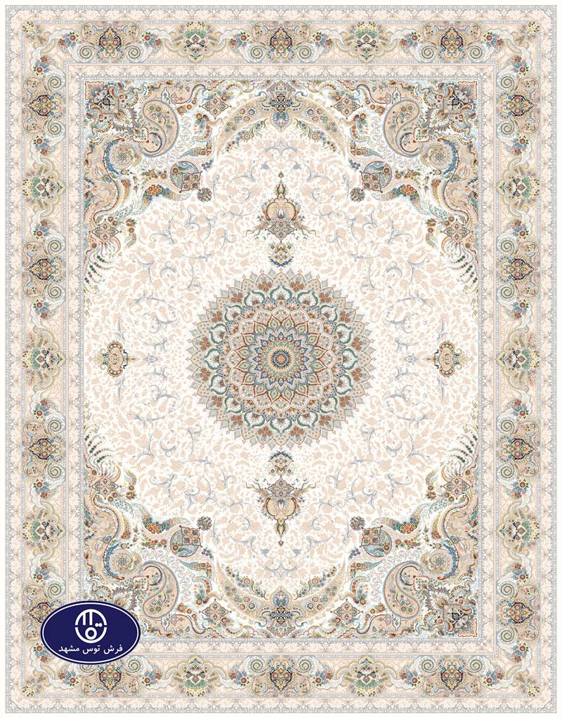 فرش گل برجسته،توس مشهد،کرم 8037