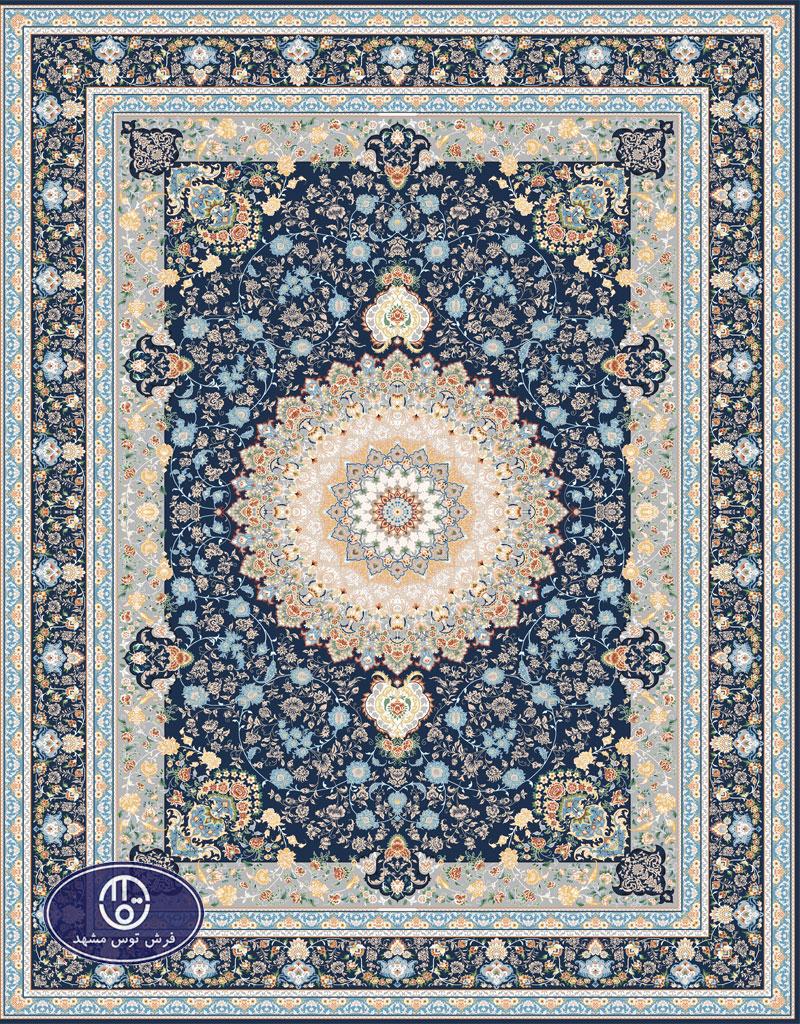 فرش گل برجسته،توس مشهد،کاربنی 8055