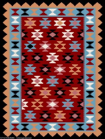 فرش عشایری کد AB076،توس مشهد،سرمه ای