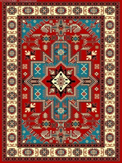 فرش عشایری کد AB078،توس مشهد،لاکی