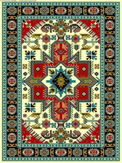 فرش عشایری کد AB078،توس مشهد،کرم