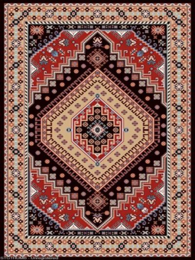 فرش عشایری کد AB079،توس مشهد،سرمه ای