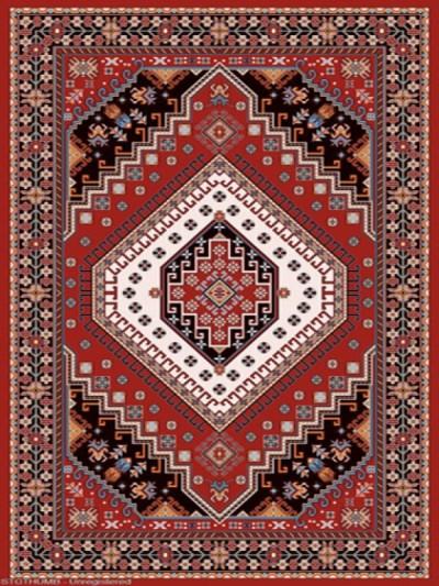 فرش عشایری کد AB079،توس مشهد،لاکی