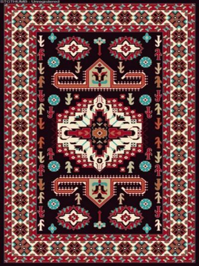 فرش عشایری کد AB082،توس مشهد،سرمه ای