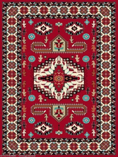 فرش عشایری کد AB082،توس مشهد،لاکی