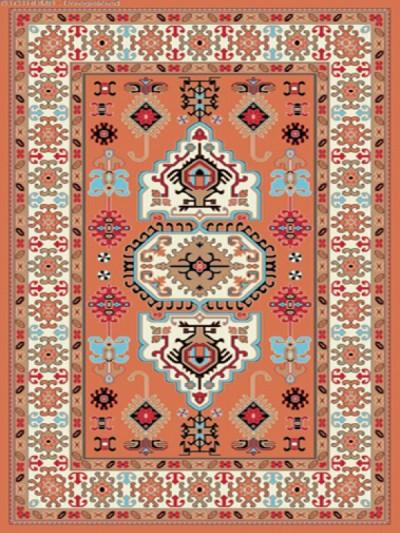 فرش عشایری کد AB084،توس مشهد،آجری