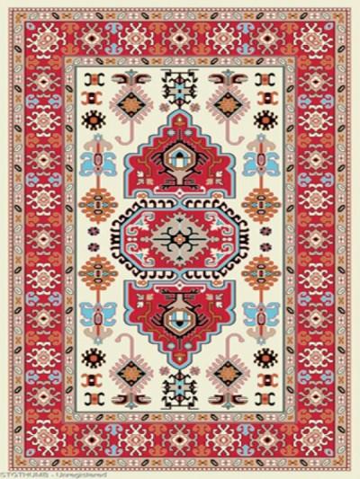 فرش عشایری کد AB084،توس مشهد،کرم