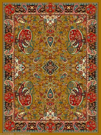 فرش عشایری کد AB086،توس مشهد،طلایی