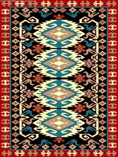 فرش عشایری کد AB091،توس مشهد،سرمه ای