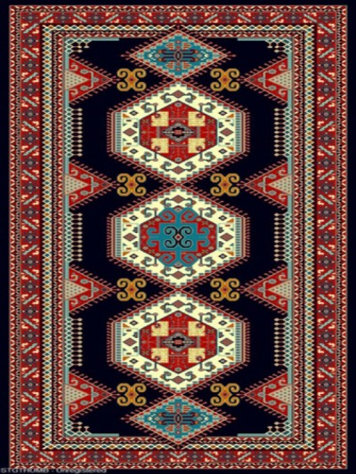 فرش عشایری کد AB092،توس مشهد،سرمه ای