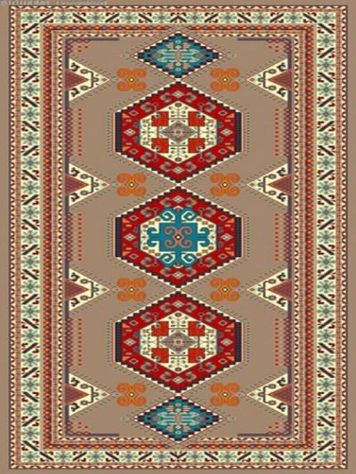 فرش عشایری کد AB092،توس مشهد،گردویی