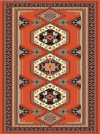 فرش عشایری کد AB092،توس مشهد،آجری1