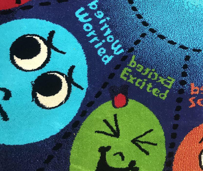 فرش عروسکی دایره اشکال -04