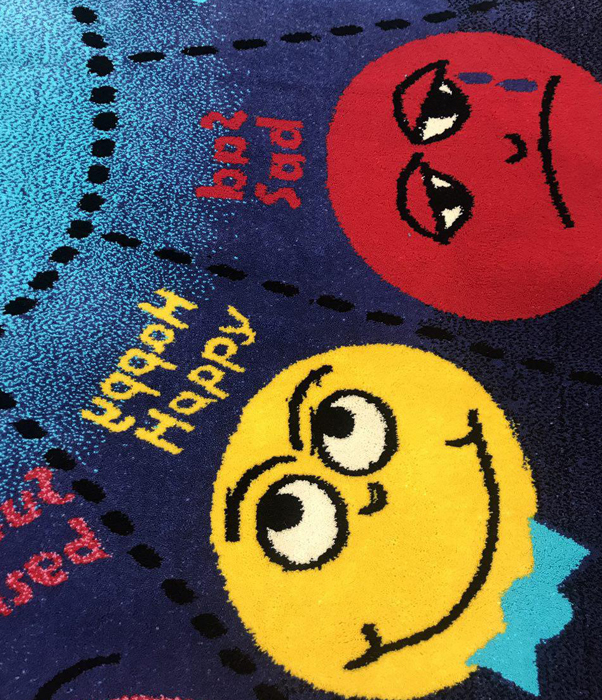 فرش عروسکی دایره اشکال -05