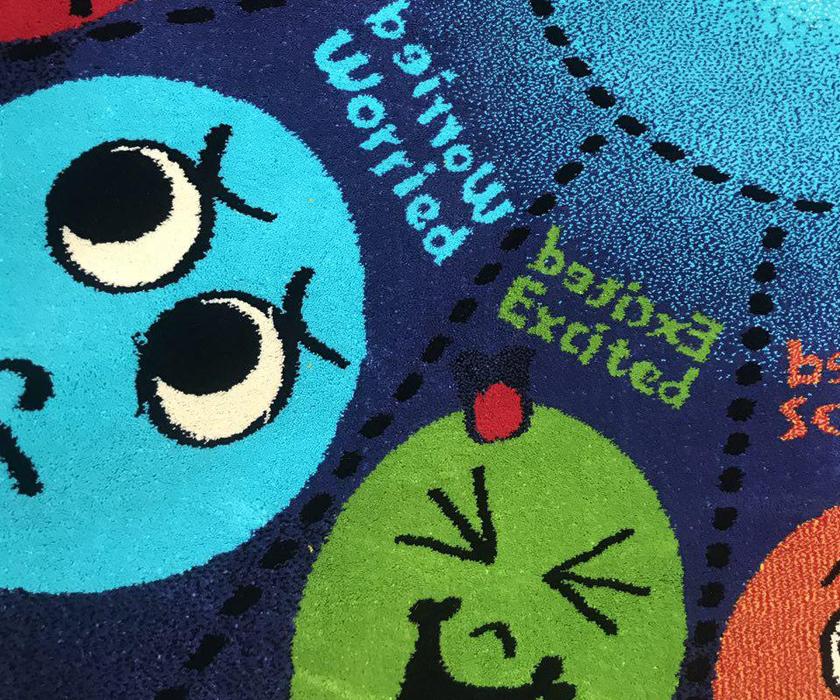 فرش عروسکی دایره اشکال -06