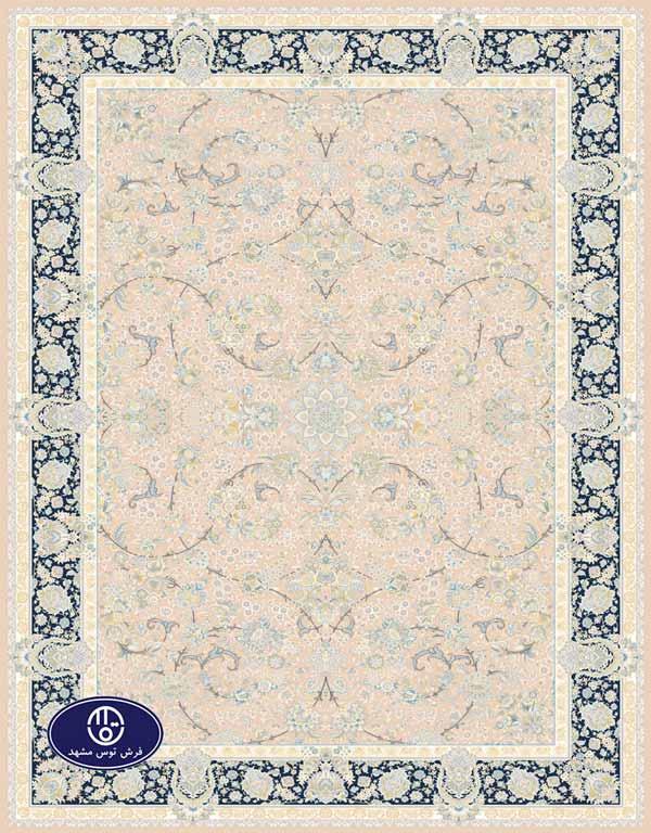 فرش گل برجسته،توس مشهد،شکلاتی 8013