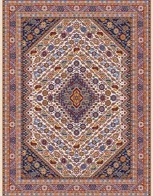 Bidjar carpet, code 960 17, cream