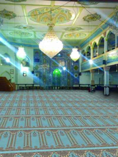 prayer carpet, Hima pattern, blue
