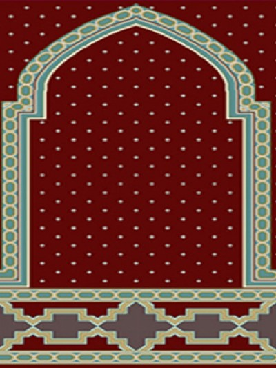 فرش سجاده ای طرح رویا قرمز - 05