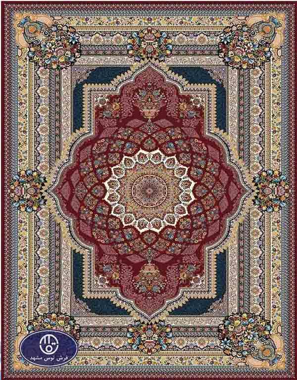 فرش ماشینی 1000 شانه کد 8066,توس مشهد,لاکی