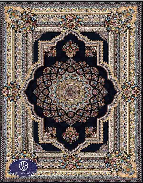 فرش ماشینی 1000 شانه کد 8066,توس مشهد,سزمه ای