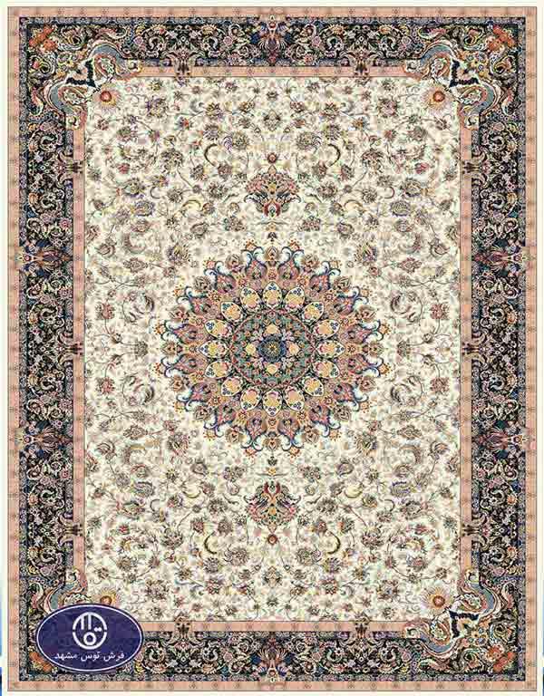 فرش ماشینی 1000 شانه کد 8071,توس مشهد,کرم