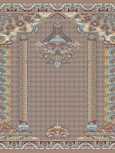 prayer carpet, Hima pattern, brown