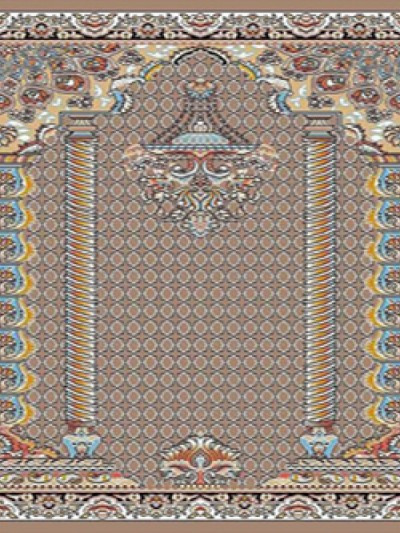 فرش سجاده ای طرح هیما گردویی - 02
