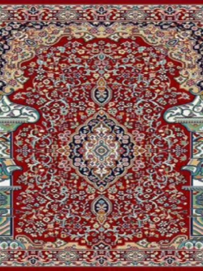 فرش سجاده ای طرح حسنا قرمز -02