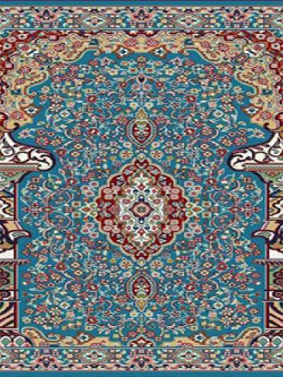 prayer carpet, Hosna pattern, blue