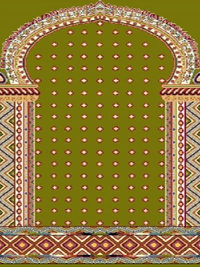 فرش سجاده ای طرح خاطره سبز خال دار ریز - 07