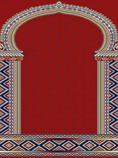 prayer carpet, Khatere pattern, red