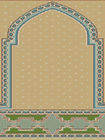 prayer carpet, Roya pattern, green