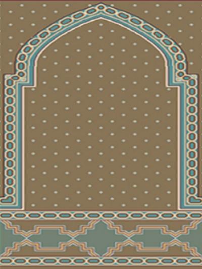 prayer carpet, Roya pattern, red
