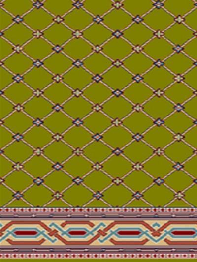 prayer carpet, Sahar pattern, green