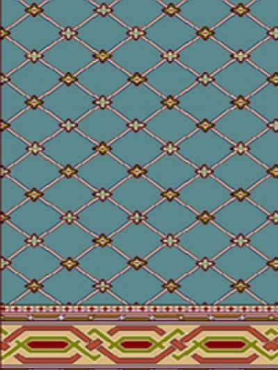 prayer carpet, Sahar pattern, blue