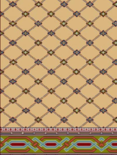 فرش سجاده ای طرح سحر شکلاتی - 03