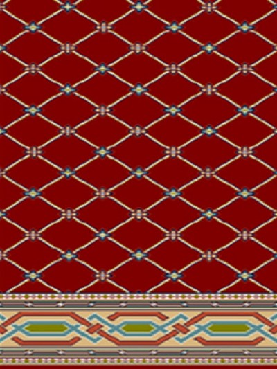 prayer carpet, Sahar pattern, red