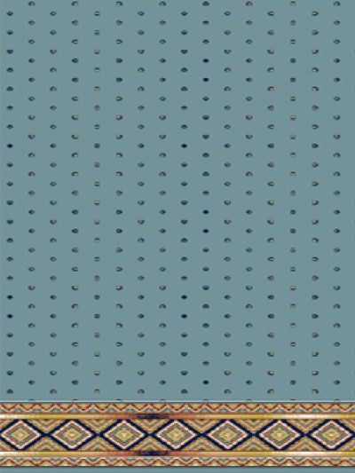 prayer carpet, Sahel pattern, blue