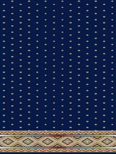 prayer carpet, Sahel pattern, navy blue