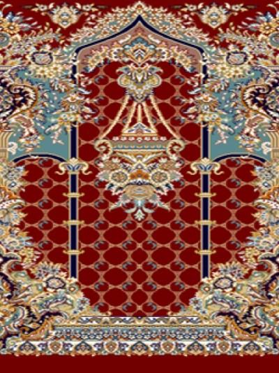 فرش سجاده ای طرح تسنیم قرمز - 02