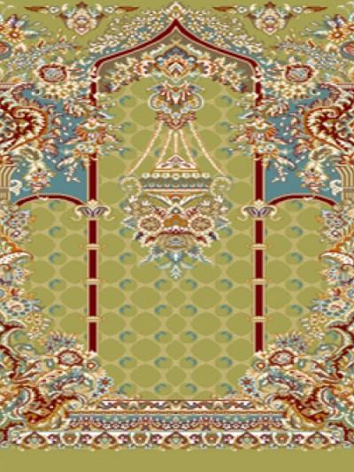 prayer carpet, Tasnim pattern, green