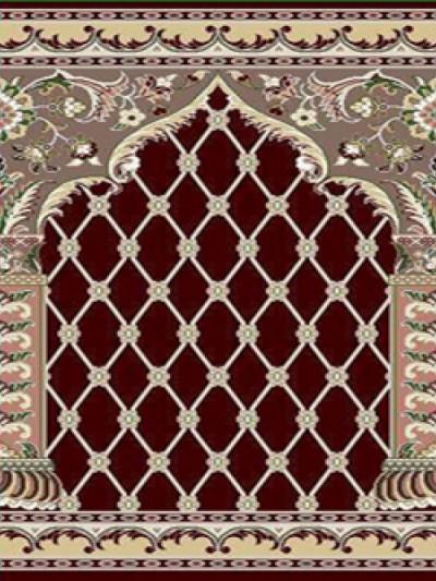 prayer carpet, Soraya pattern, red