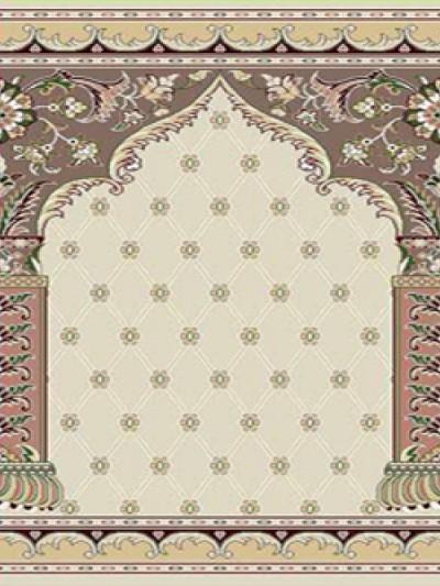 prayer carpet, Soraya pattern, cream