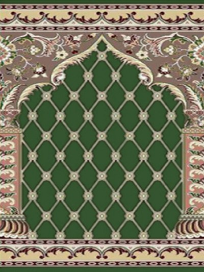 prayer carpet, Soraya pattern, green