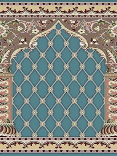 prayer carpet, Soraya pattern, blue