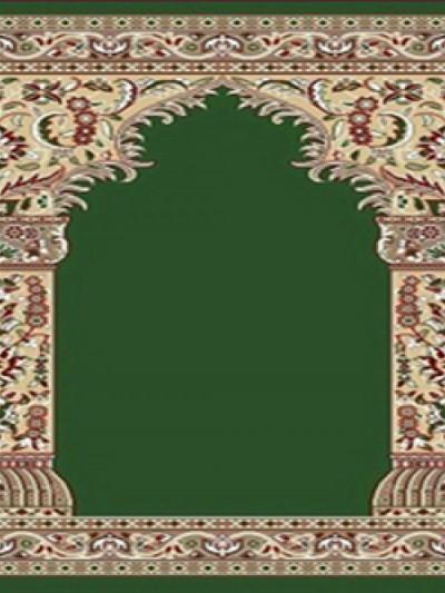 فرش سجاده ای طرح زهره سبز تیره -04