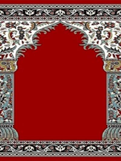 فرش سجاده ای طرح زهره قرمز روشن - 03