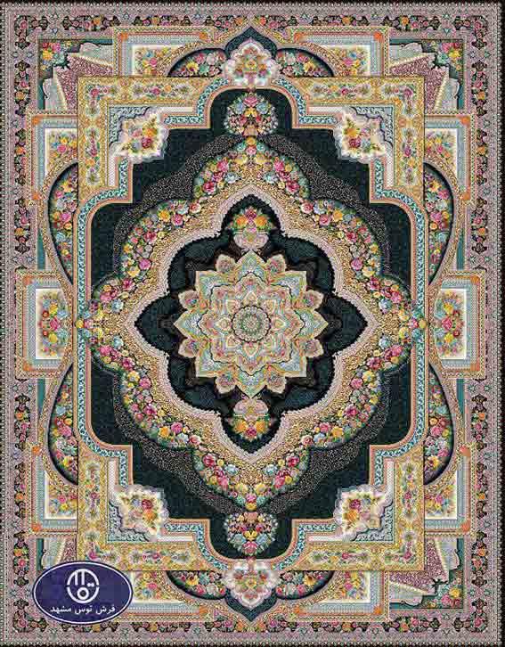 فرش 1200 شانه کد 1263,توس مشهد,سورمه ای